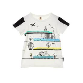 新幹線乗りものTシャツ (Off White)