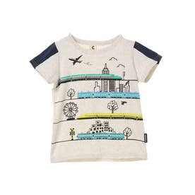 新幹線乗りものTシャツ (Oatmeal)