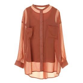 RAY CASSIN SET2点 シアーシャツ×タンク (Orange)