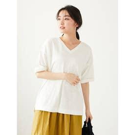 VネックスラブTシャツ (Off White)