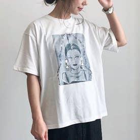 SUGAR SPOON ビジュー×レディptTシャツ (Gray)