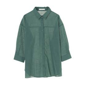 コットンスラブレギュラーシャツ (Green)