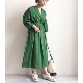 スキッパーギャザーワンピース (Green)