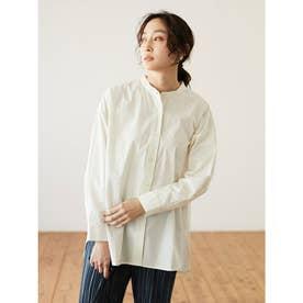 バンドカラーシャツ (Off White)