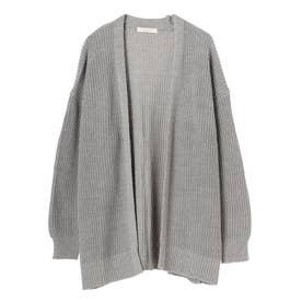 洗える ショートニットカーデ (Gray Mixture)