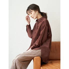 コーデュロイ襟付きシャツ (Brown)