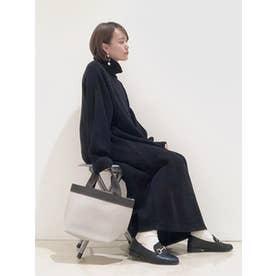 立ち襟カットプルオーバー (Black)