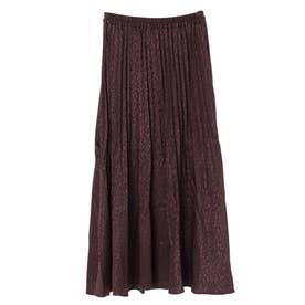 SUGAR SPOON レオパードサテンスカート (Brown)