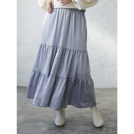 novem 9 ヴィンテージサテンスカート (Gray)