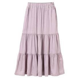novem 9 ヴィンテージサテンスカート (Pink)