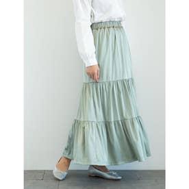 novem 9 ヴィンテージサテンスカート (Light Khaki)