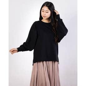 ボリューム袖デザインプルオーバー (Black)