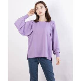 ボリューム袖デザインプルオーバー (Purple)