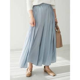 スカート見えギャザーワイドパンツ (Blue)