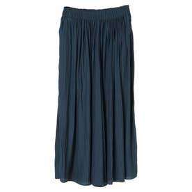 スカート見えギャザーワイドパンツ (Navy)