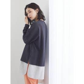 裾ワッフルインナードッキングプルオーバー (Charcoal Gray)