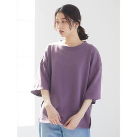 ・SUGAR SPOON ウラケ6分袖プルオーバー (Purple)