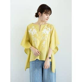 furry rate 刺繍スクエアブラウス (Yellow)