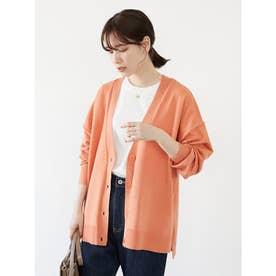 ミディ丈 ニットカーデ (Orange)