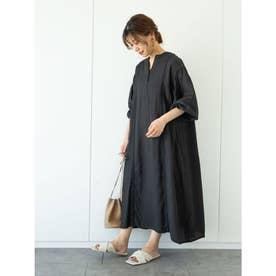furry rate ハシゴレース&ピンタックワンピ (Black)