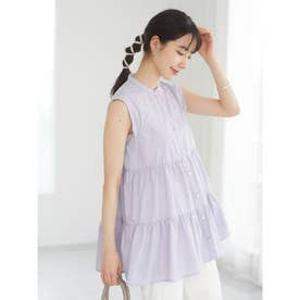 ELENCARE DUE 刺繍ティアードチュニック (Lavender)