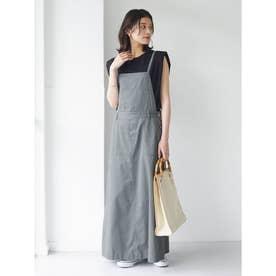 SUGAR SPOON ツイルサロペットスカート (Gray)