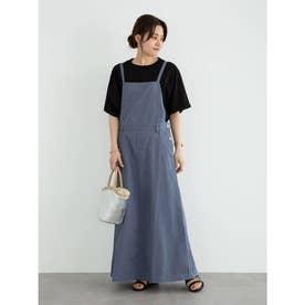 SUGAR SPOON ツイルサロペットスカート (Blue)