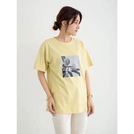 ボタニカルフォトTシャツ (Yellow)