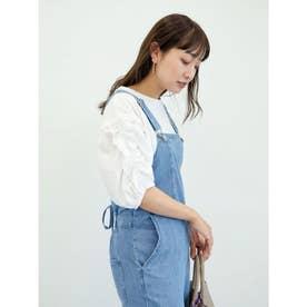 ・ELENCARE DUE ラッフルスリーブTシャツ (Off White)