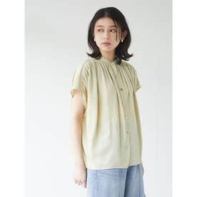 ・ELENCARE DUE 多釦ギャザーブラウス (Yellow)