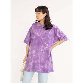 SUGAR SPOON タイダイTシャツチュニック (Purple)