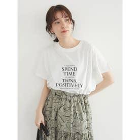 多段キレイめロゴTシャツ (Off White)