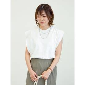 SUGAR SPOON フリルノースリTシャツ (Off White)