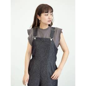 SUGAR SPOON フリルノースリTシャツ (Charcoal Gray)