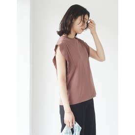 SUGAR SPOON フリルノースリTシャツ (Brown)