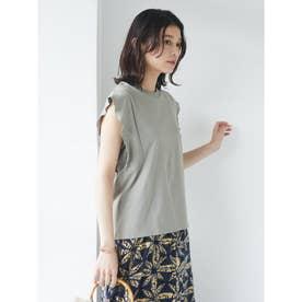 SUGAR SPOON フリルノースリTシャツ (Khaki)