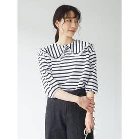 RAY CASSIN ビックカラーボーダーTシャツ (Off White)