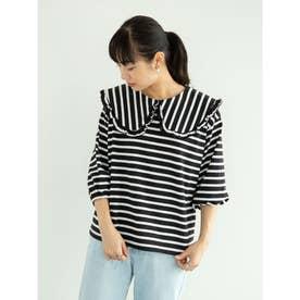 RAY CASSIN ビックカラーボーダーTシャツ (Black)