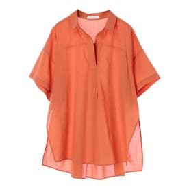 サイドスリットスキッパーシャツ (Orange)