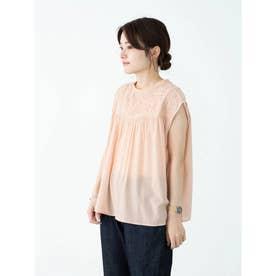 SUGAR SPOON ヨーク刺繍ブラウス (Pink)