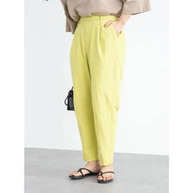 ベルギーリネンブレンド ストレートパンツ (Yellow)