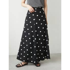 ・SUGAR SPOON リネンドットマーメイドスカート (ブラック)