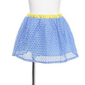 グリーンパークス レーススカート (ブルー)