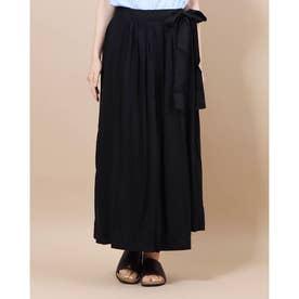 ギャザーラップスカート (Black)