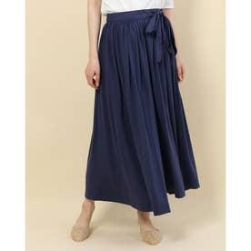 ギャザーラップスカート (Blue)