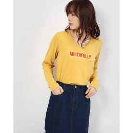 m VネックロゴTシャツ (Yellow)