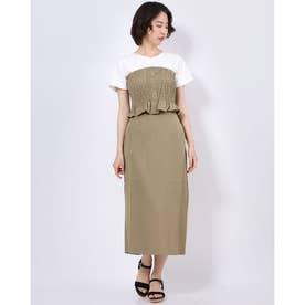 【RAYCASSIN】 SET2点ビスチェ×スカート (Khaki)