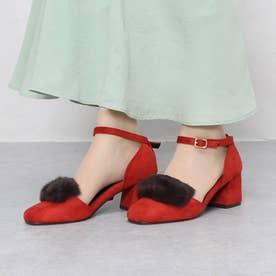 ファーツキセパレートパンプス (RED)