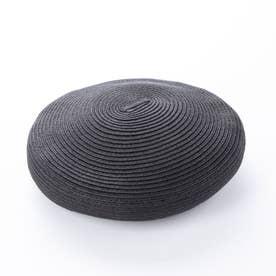 【アイ イー】ペーパーベレー帽 (ブラック)