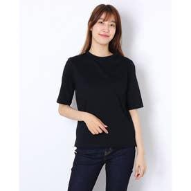Cシルケット5分袖Tシャツ (BLK)